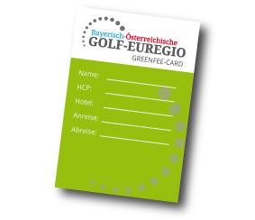 Neun Golfclubs setzen auf eine Karte